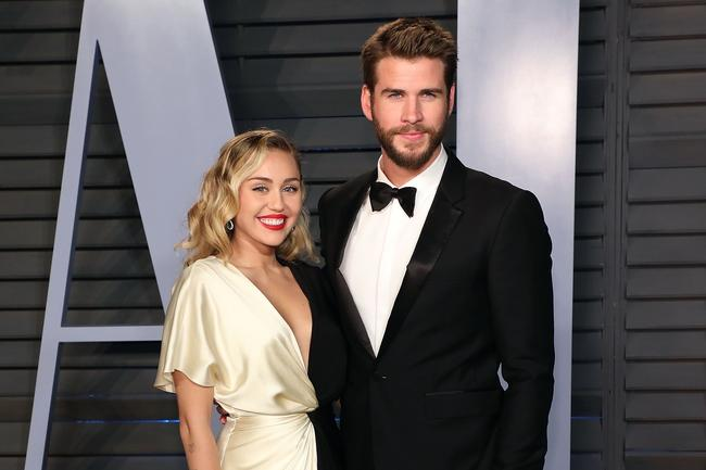 Liam Hemsworth and Miley Cyrus attend the Vanity Fair party together, 2018