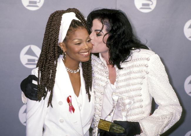 Michael Jackson and Janet Jackson at the 35th Annual GRAMMY Awards