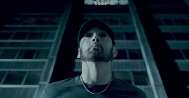 Eminem in his 'Fall' Music Video