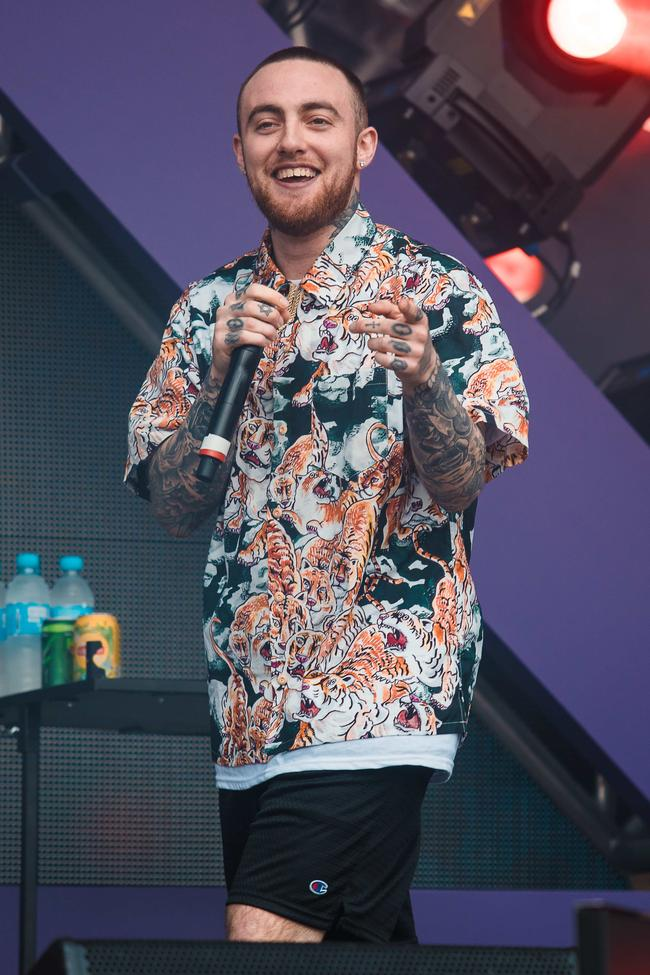Mac Miller performs live on stage during the second day of Lollapalooza Brazil Festival at Interlagos Racetrack on March 24, 2018 in Sao Paulo, Brazil.