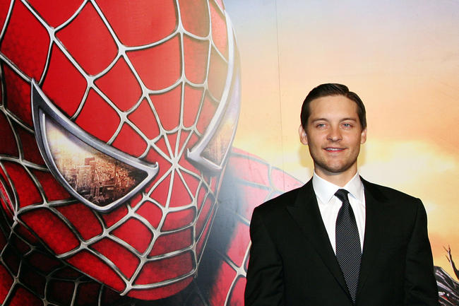 Tobey Maguire at the Rome premiere of Spider-Man 3, 2007
