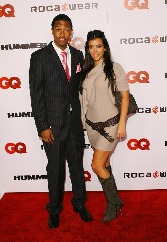 Kim Kardashian and Nick Cannon attend Jay-Z's album release party in 2006