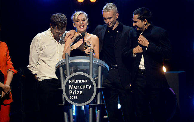Wolf Alice winning the Mercury Prize 2018