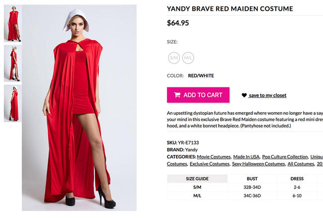 This Sexy Handmaid's Tale Costume Has Been Removed Already