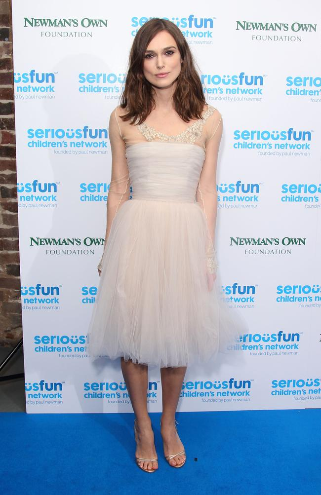 Keira Knightley attends the SeriousFun London Gala 2013 at The Roundhouse on December 3, 2013 in London, England.The Serious Fun Children's Network is a growing community of camps and programs serving children with serious illnesses and their families and was set up by Paul Newman in 1988