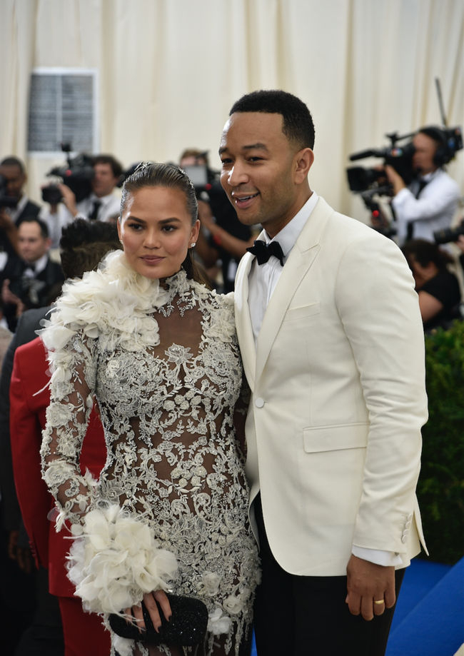 Chrissy Teigen and John Legend attend the Met Gala in New York City