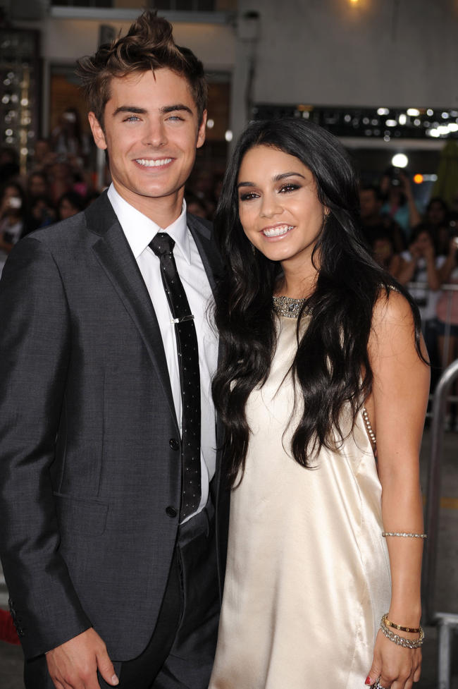 Zac Efron and Vanessa Hudgens attend together in 2007