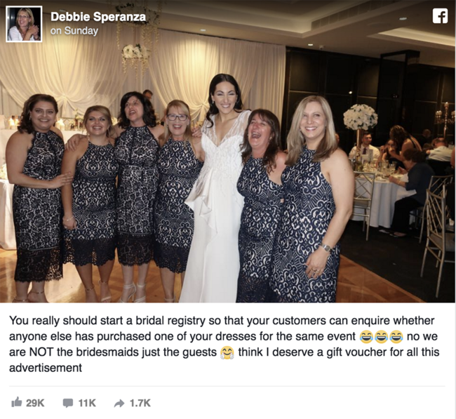 Six guests turned up to friend's wedding in the SAME dress