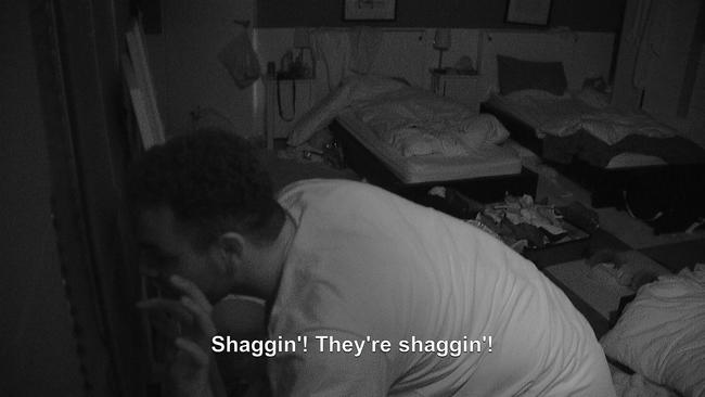 The Geordie Shore squad watch as Gaz and Abbie get hot under the covers