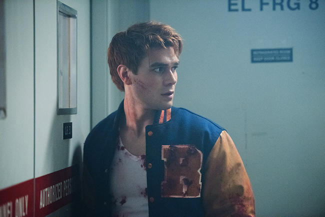 Riverdale's Archie Andrews is scared about his dad's fate in the season premiere of the show.