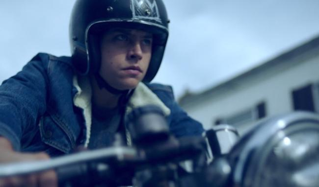 Riverdale's Jughead Jones rides a motorbike now in season two.