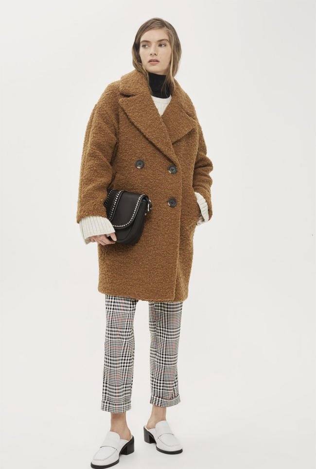 This Topshop coat should be your weekend purchase because it's a bargain £85.