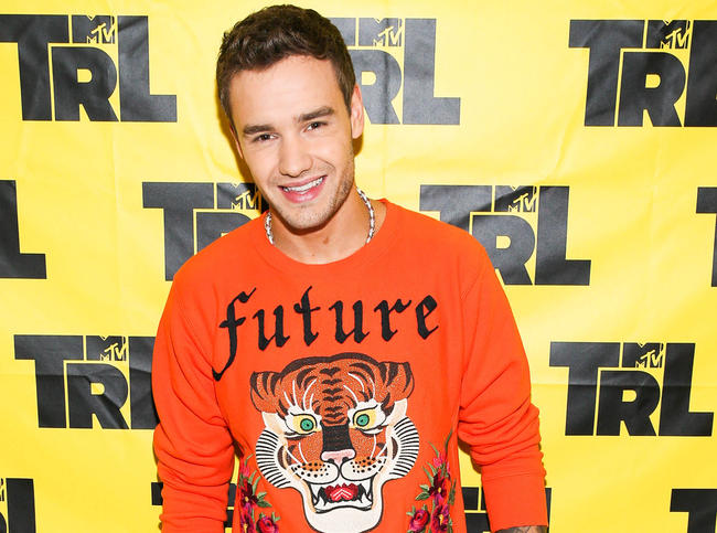 Liam Payne appearing on the revived TRL show on MTV in New York, October 2017