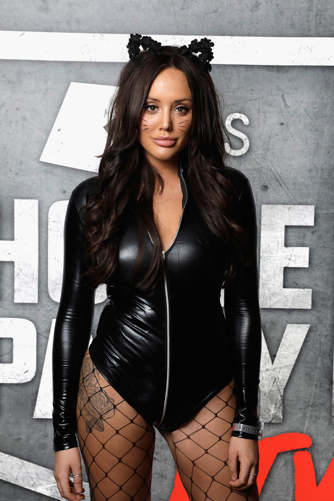 Charlotte Crosby looked incredible as catwoman at the KISS Halloween bash.
