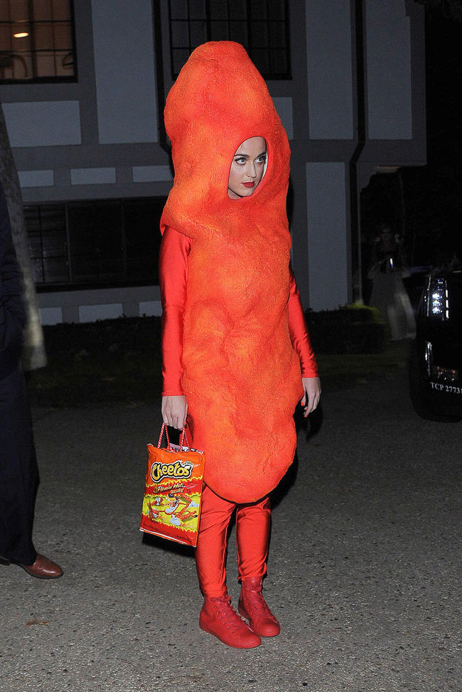Katy Perry dressed as a cheeto for halloween once.