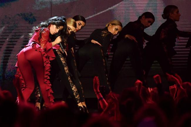 Camila Cabello performs 'Havana' at the 2017 MTV Europe Music Awards in London, England in November 2017