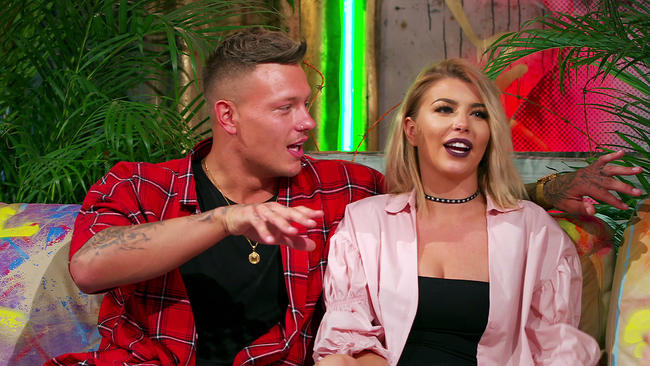 Love Island's Alex Bowen and Olivia Buckland talk strip clubs in the Just Tattoo Of Us studio