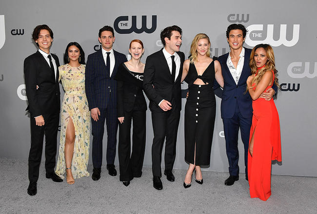 The Riverdale cast at The CW event
