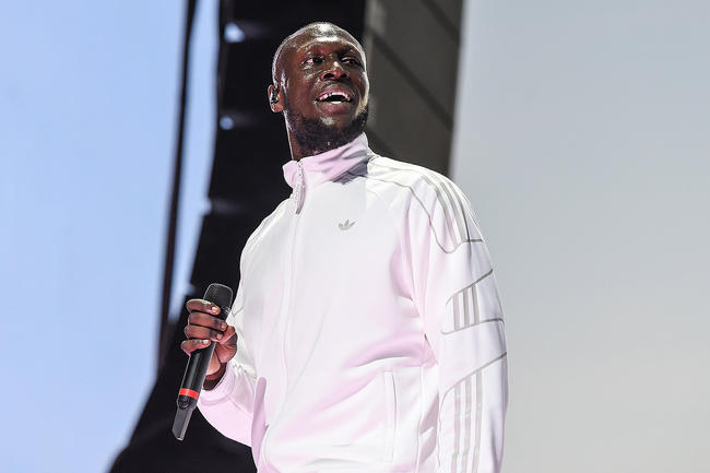 Stormzy performing at Wireless Festival 2018