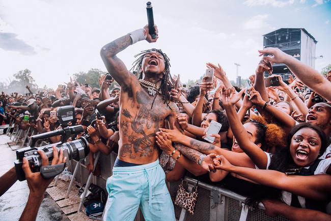 Rae Sremmurd performing at Wireless Festival 2018