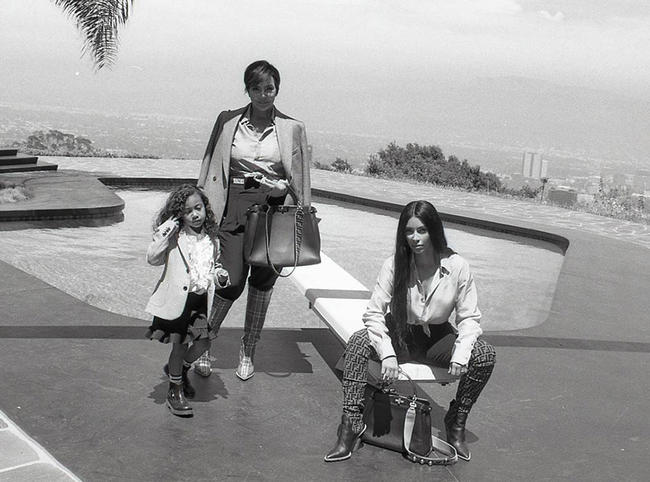 North West, Kim Kardashian, and Kris Jenner join forces for Fendi campaign