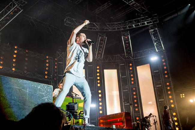 Bastille Performs at Ocean City Sounds, Plymouth 2018