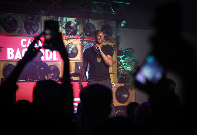 Giggs headlining the Casa BACARDI event at Oval Space, London.