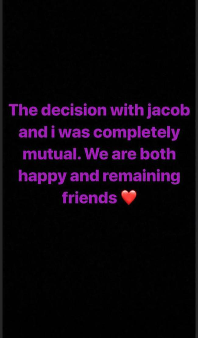 Millie Bobby Brown confirms split from boyfriend of seven months Jacob Sartorius