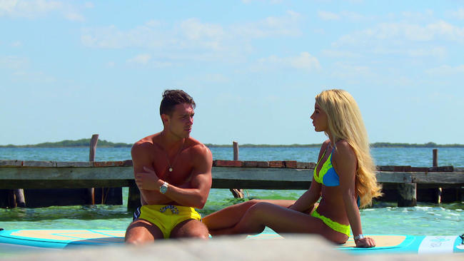Ex On The Beach's Bobby Ballard and Bayley Jenkins have a heart-to-heart about their past