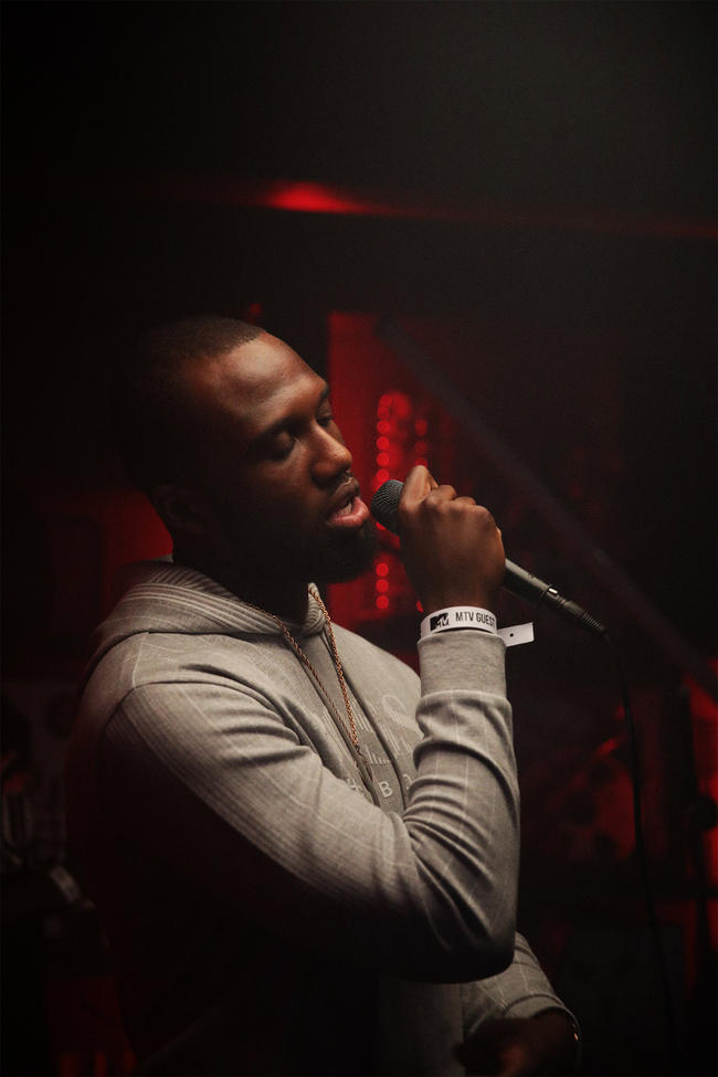 Headie One performing 'Tracksuit Love' at the MTV PUSH Live event at Tape London