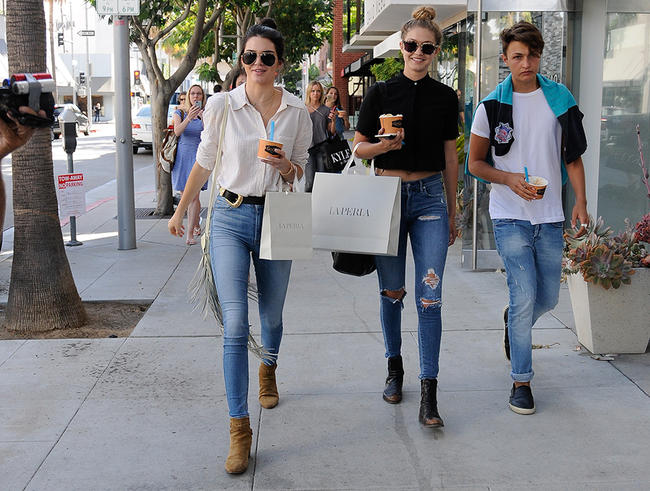 Bella and Gigi Hadid are fully on board with Kendall Jenner dating Anwar