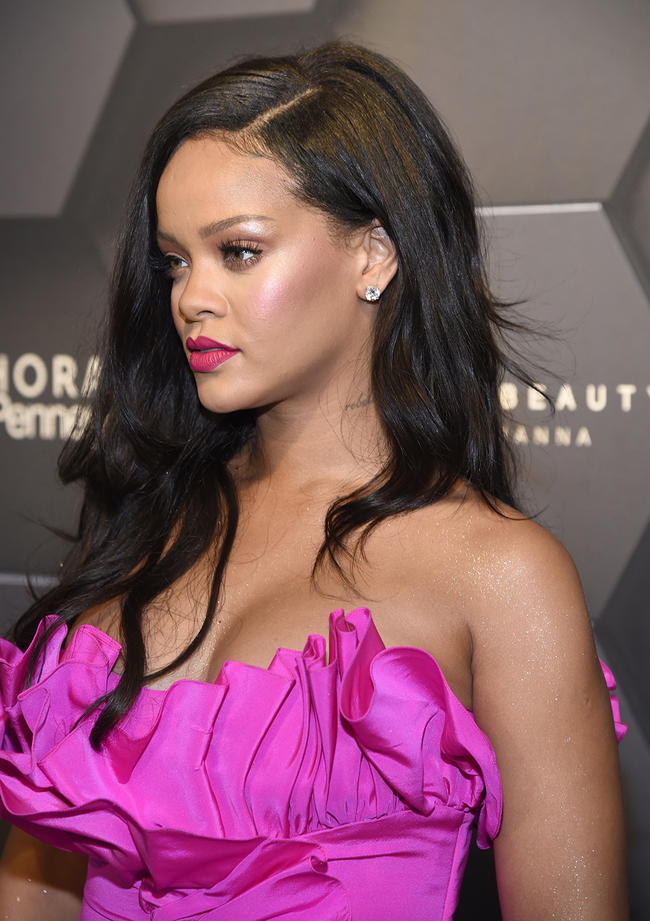 Rihanna attends the Australian first birthday party for Fenty Beauty in September 2018