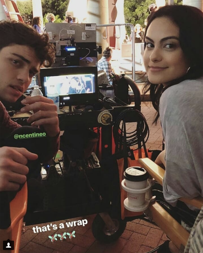 Camila Mendes opens up about pulling an all nighter with Noah Centineo