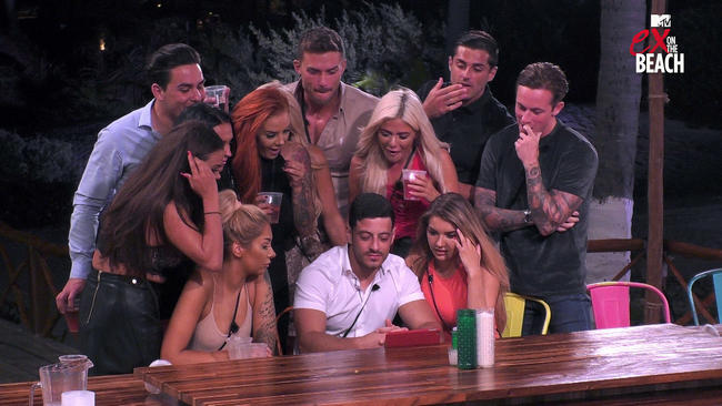 Ex On The Beach's Bayley Jenkins reacts to ex Rob Tommarello's shock arrival