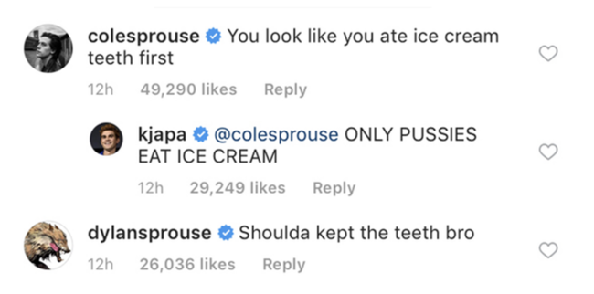 KJ Apa trolls himself after Dylan Sprouse shaded his childhood teeth
