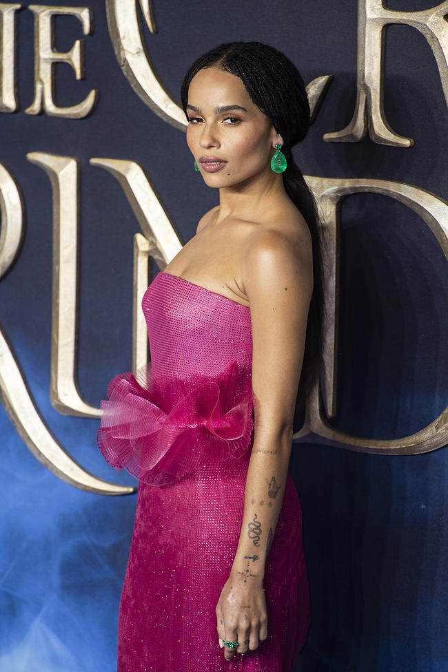Zoe Kravitz says Lily Allen attacked her with a kiss