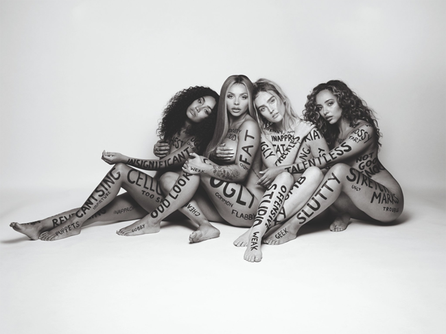 Little Mix in the 'Strip' music video, 2018, co-directed by Rankin