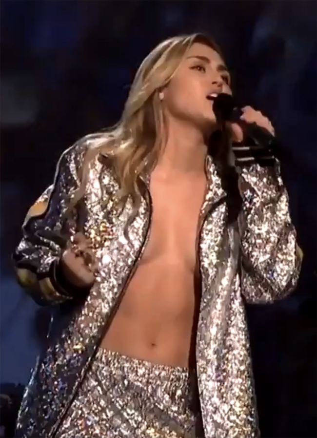 Miley Cyrus's very revealing SNL outfit inspires hilarious tweets