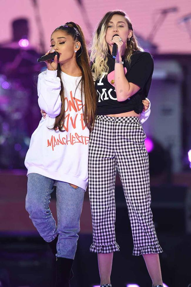 Miley Cyrus reveals what she texted Ariana Grande following Pete Davidson split