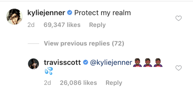 Kylie Jenner and Travis Scott are flirting using Game Of Thrones replay
