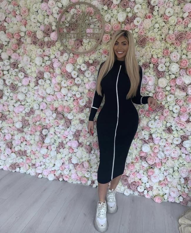 Geordie Shore star Chloe Ferry poses in her Newcastle salon CM House of Aesthetics