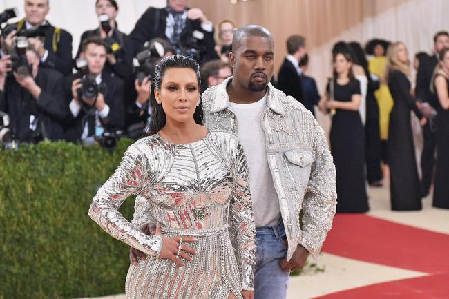 Kim Kardashian West attends The Met Gala in New York City in 2016 with husband Kanye West