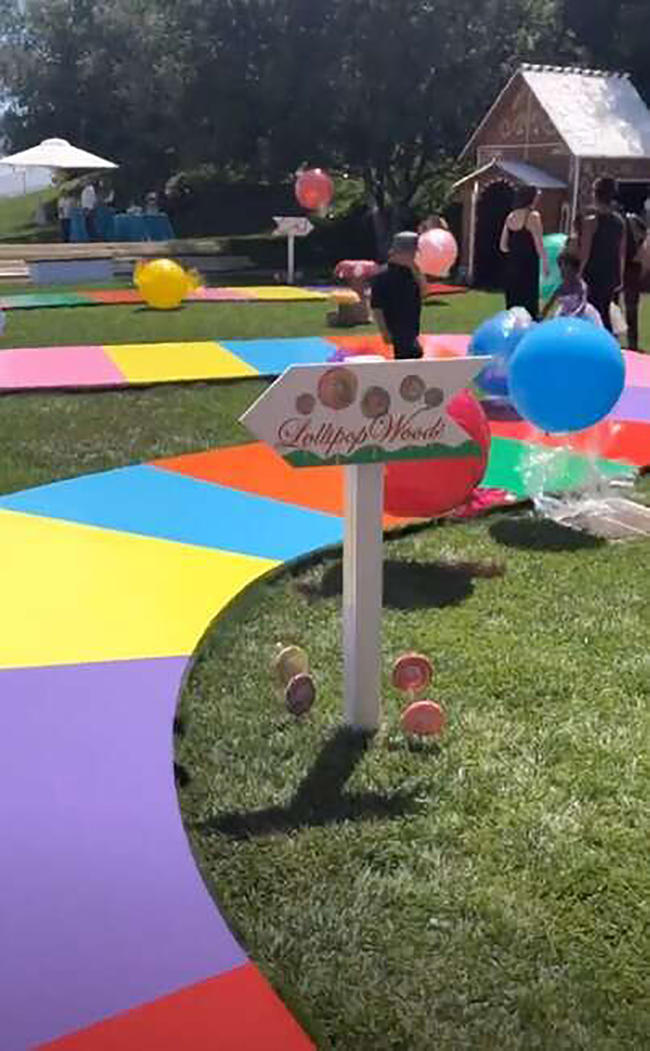 North West and Penelope Disick's extravagant AF candy themed party