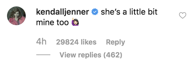 Kendall Jenner had the best response to Justin's tribute for Hailey Bieber