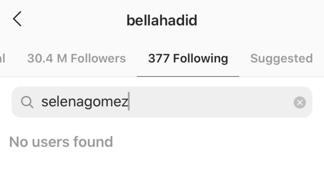 Bella Hadid Unfollows Selena Gomez After Causing Social Media Frenzy