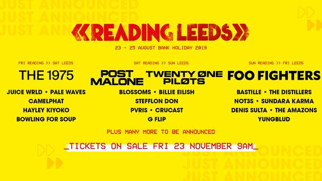Reading & Leeds Festival 2019 Line Up