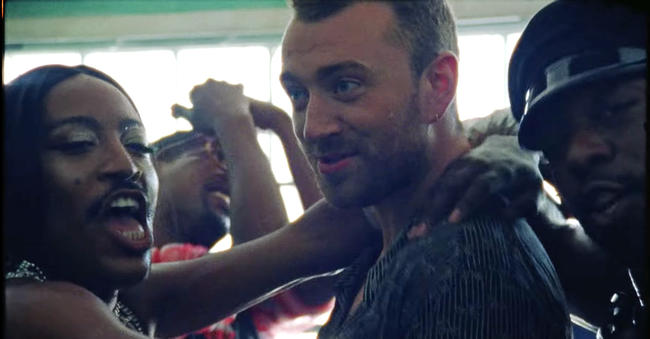Sam Smith in the 'Promises' Music Video with Calvin Harris
